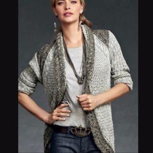 CAbi Shadow Circle Sweater Cardigan Style 910 XS